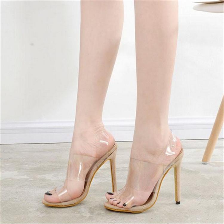 Clair D'été forme Sandales H Sexy Chaussures Beige black Es Femmes Pvc Designer De Wedge Plate Spartiates Mode Transparent PEqq0nxU