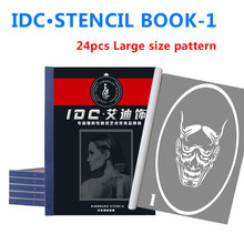 Wholesale Airbrush Glitter Tattoo Stencil Drawing Large patterns sticker Henna temporary art Tattoo Stencils books set-1 75 designs temporary airbrush tattoo stencil book airbrush stencils template booklet book 20