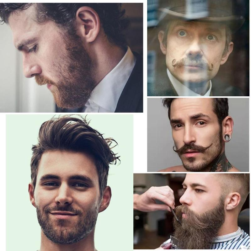 Wooden Beard Combs Two-Sided Mustaches Styling Anti Static Trim Template Comb Beauty Tool