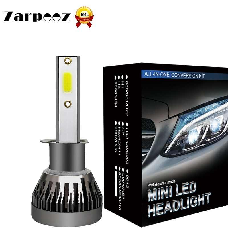 Zarpooz 2Pcs Mini Auto Light Lamp 72W Automotivo LED Bulb Car Headlight H7 LED H4 H11 H8 H1 H3 9005 9006 9007 880 H27Headlights