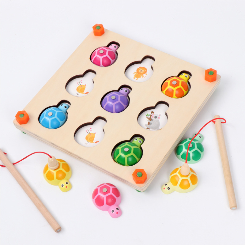 Memory Game & Fishing Game 2 In 1 Wooden Montessori Toys For Preschool Children Family Party Interactive Toy 54