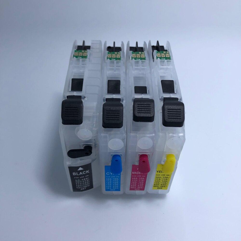 YOTAT пустые многоразовые чернильные картриджи для Brother LC121 для Brother DCP-J552DW, DCP-J752DW, DCP-J132W, DCP-J152W