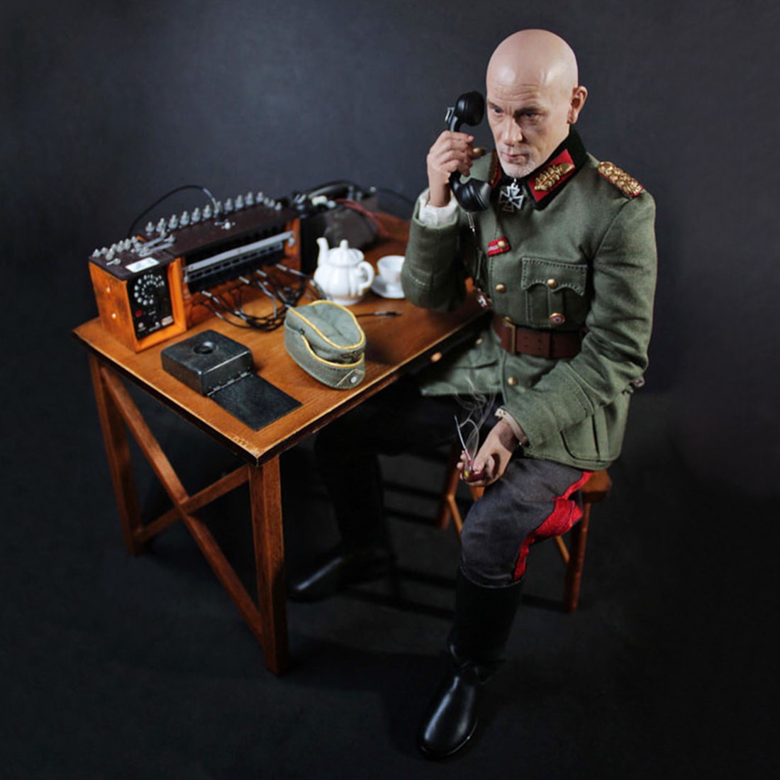 30cm 1/6 군인 모델 현실적인 headsculpt diy 수제 그림 모델 남자 선물 독일 필드 전화 스위치 보드 장면-에서액션 & 장난감 숫자부터 완구 & 취미 의  그룹 1