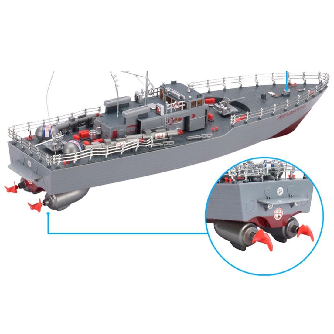 50 cm 1:115 RC bateau jouets télécommande bateau de guerre modèle militaire bateau jouet pour l'armée Fans présent cadeau-US Plug - 4