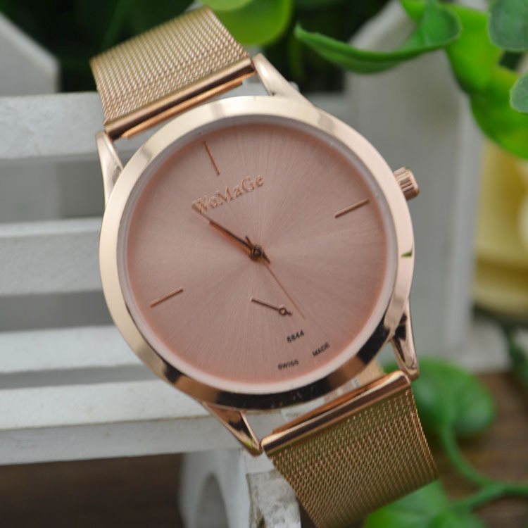Rose Gold Ladies Wrist Watch Stainless Steel  Watch Party Dress Watches Relogio Feminino 2018 Round Business Watch