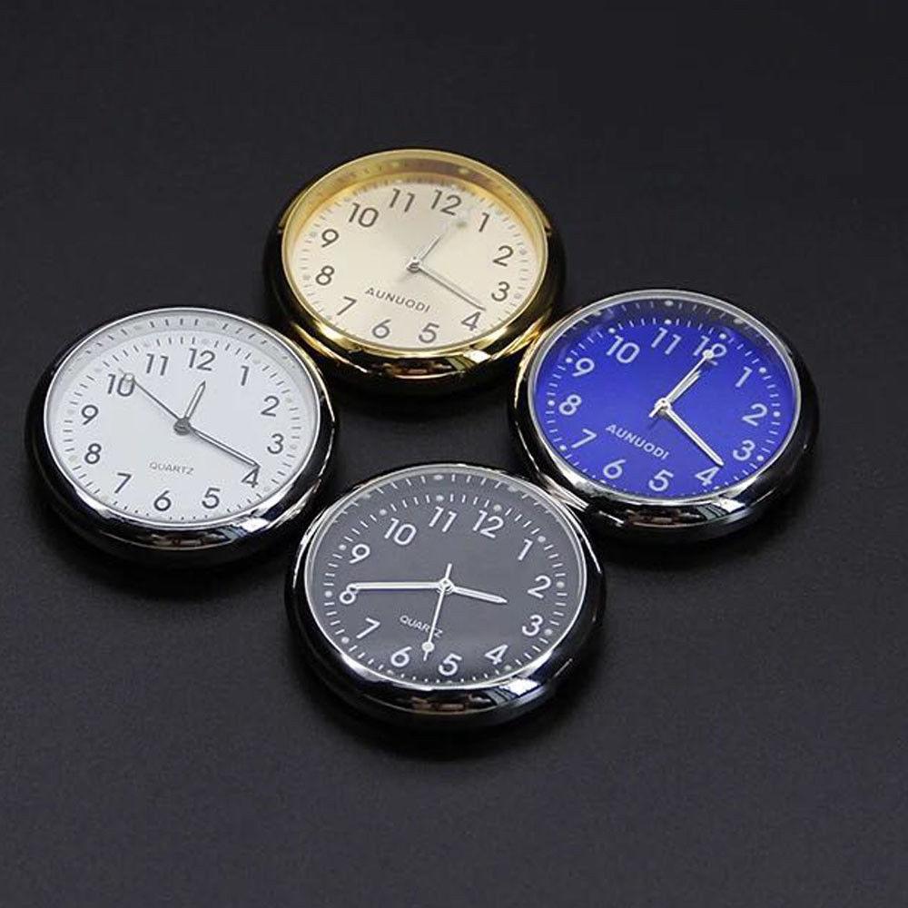 MINI Luminous Car Auto Dashboard Quartz Time Clock Ornaments Interior Decor Kit