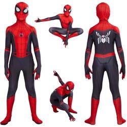 Дети человек паук далеко от дома Питер Паркер костюм зентай для косплея супергероя-паука боди комбинезоны костюм на Хэллоуин