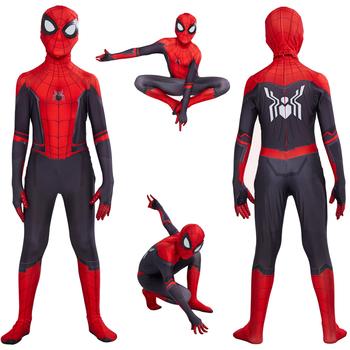 Spider Boy z dala od domu Peter Parker przebranie na karnawał Zentai garnitur Superhero body kombinezony kostium na halloween dla dzieci tanie i dobre opinie Zestawy Film i TELEWIZJA Chłopcy Kombinezony i pajacyki BK015 Kostiumy spandex
