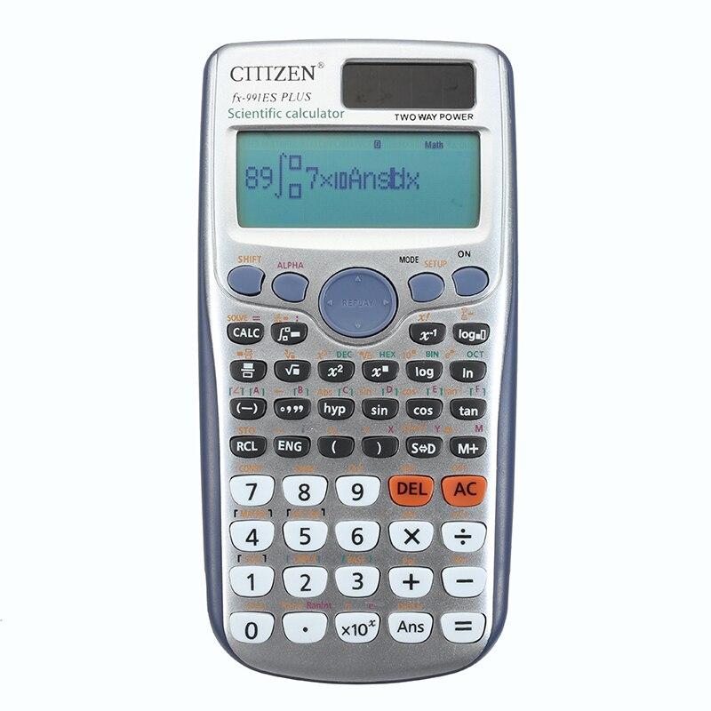 YUNAI de estudiante calculadora científica 991ES PLUS pantalla LED de bolsillo funciones calculadora para enseñar a los estudiantes