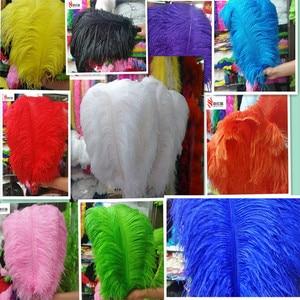 Image 1 - Groothandel! Hot Koop 100 stks Struisvogelveren 14 Kleur 50 55 cm/20 22 inches pluim bruiloft uitvoeren art decoratie veer
