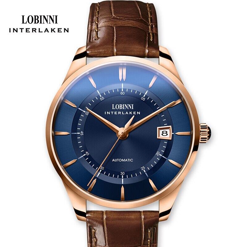 Suisse Marque De Luxe LOBINNI Montre Hommes Japon MIYOTA Automatique Mécanique Hommes de Montres Saphir Étanche relogio Horloge L5020-4