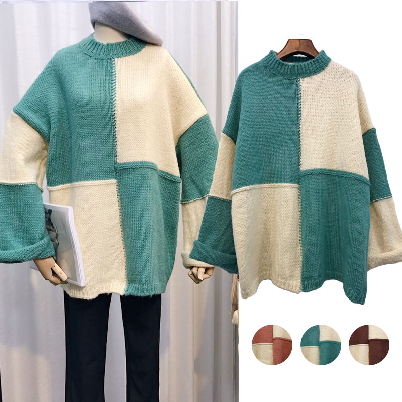 La MaxZa Sweater Soft And Loose Sleeves Knitted Women's Sweater 2018 New Style Autumn Winter Fashionable And Lazy Style 6133