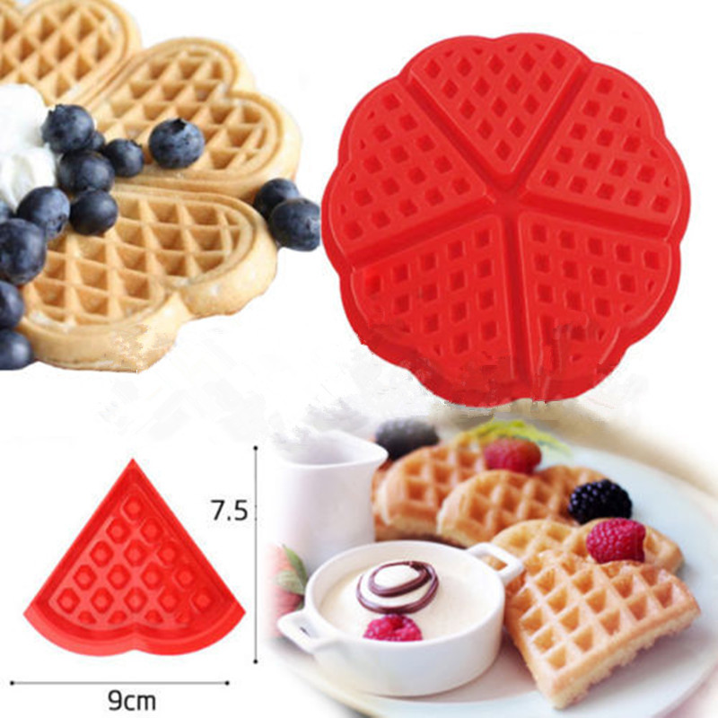 Non-stick Food Grade Silicone Waffle Mold Kitchen Bakeware Cake Mould Makers For Roaster Cake Decorating Tools New 2019