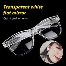 Vintage Transparent White Eyeglasses Frames  For Women Glasses Frame Men sports Eyewear