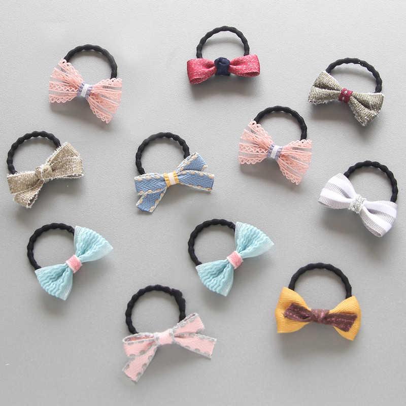 Новые универсальные решетки Лидер продаж Детские волосы веревка подарки цветок бантом уникальный для девочек 27 цветов для девочек Дети 1 пара принцесса