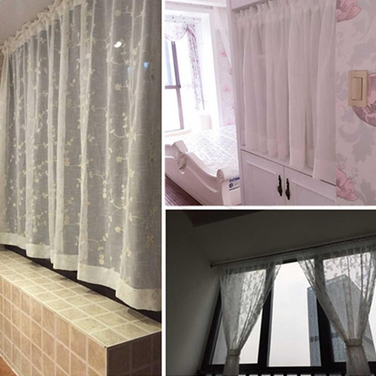 5 PCS Bathroom Shower Curtain Rod Adjustable Tension Extendable Bath Pole