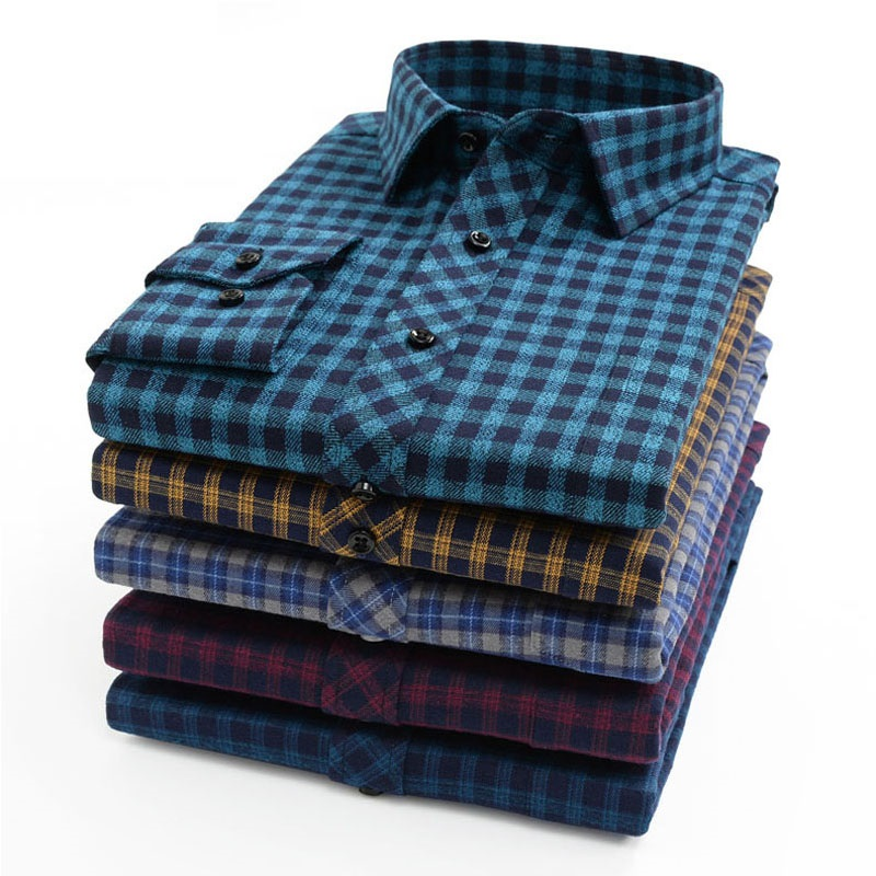 Plus Size Big 6XL 7XL 8XL 9XL 10XL 2019 Oversized Men Clothing Large Size Flannel Plaid Shirt Cotton Long Sleeve Shirt Male
