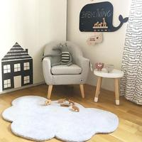 INS Nordic Style Cloud Cotton Plush Mat Children's Carpet Mat Game Pad Crawling Mat Room Decoration Carpet Cushion