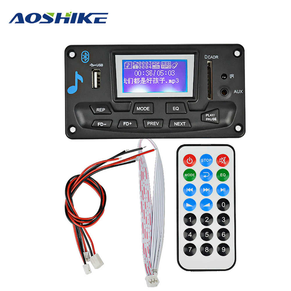 Detail Feedback Questions about AOSHIKE 12V LCD Bluetooth MP3