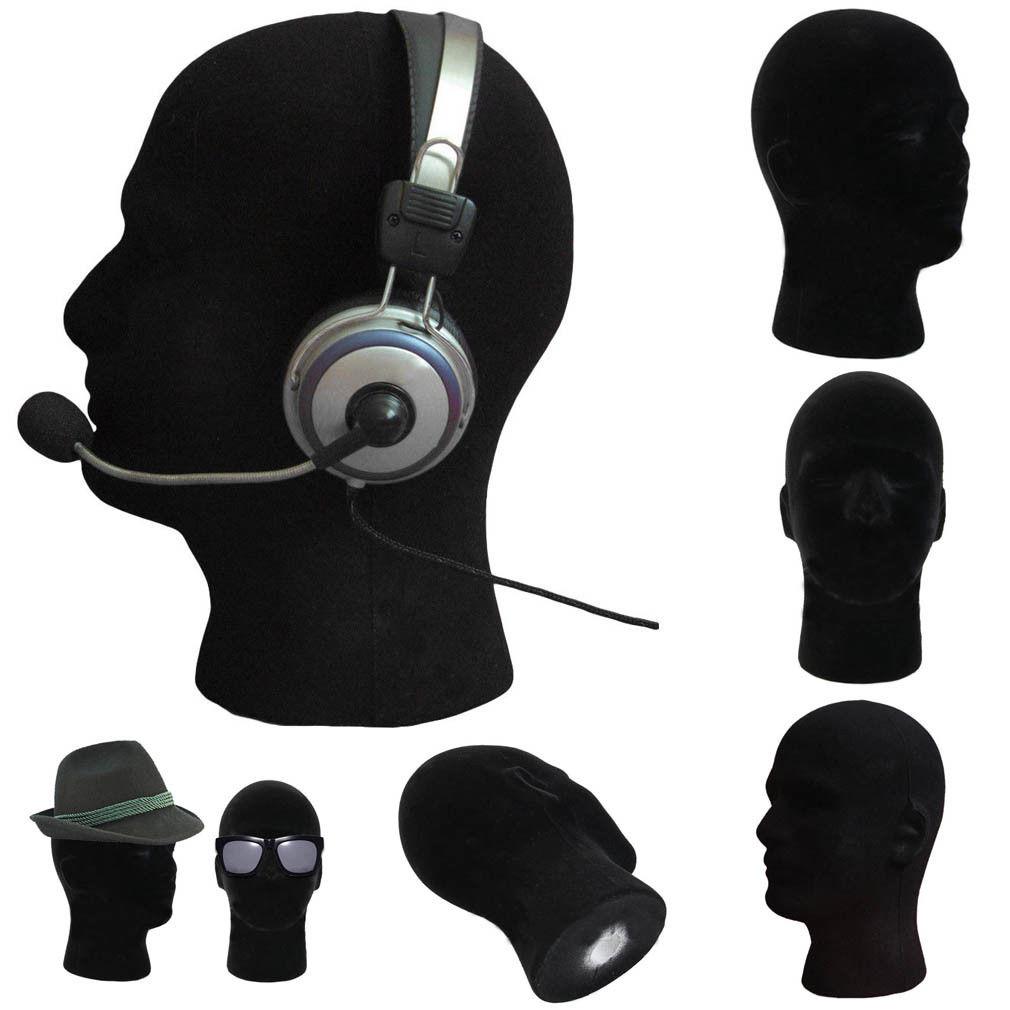 Male Styrofoam Mannequin Wig Glasses Hat Display Stand Popular Foam Head Model Display Holder Yet Not Vulgar