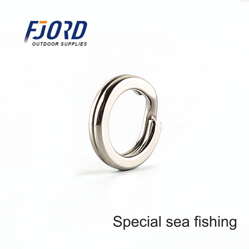 FJORD Split Ring for Sea Fishing 100% Stainless Steel High Quality Strengthen Solid Ring Heavy Duty Bent Fishing Accessories
