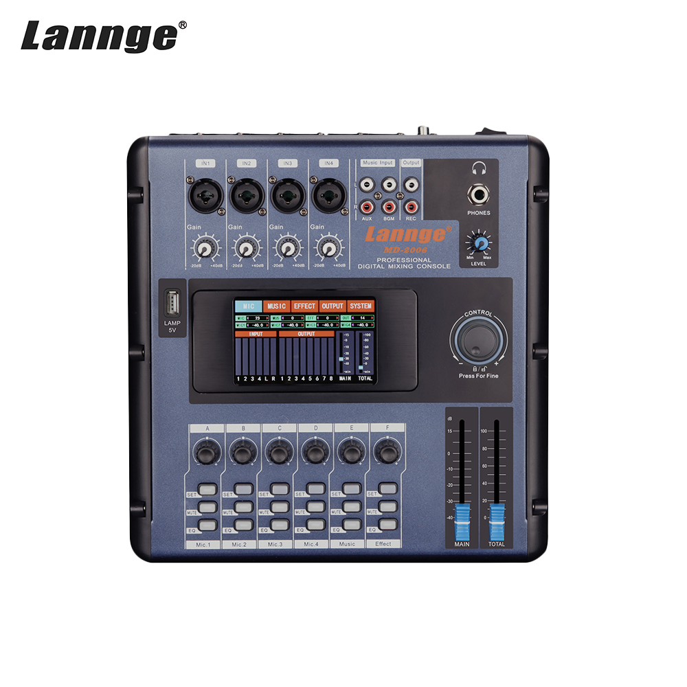 Lannge Lcd-Touch-Screen Mixer Mixing-Console Recording 6-Channel Digital Built-In-Effects title=