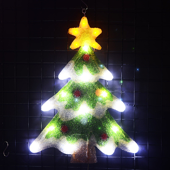 2D christmas tree motif lights - 21.3 in. Tall led decoration xmas tree light home decoration party light navidad 2018 2018 sale christmas decoration navidad christmas tree great led lighting wedding celebration decoration product 30m lamp h243