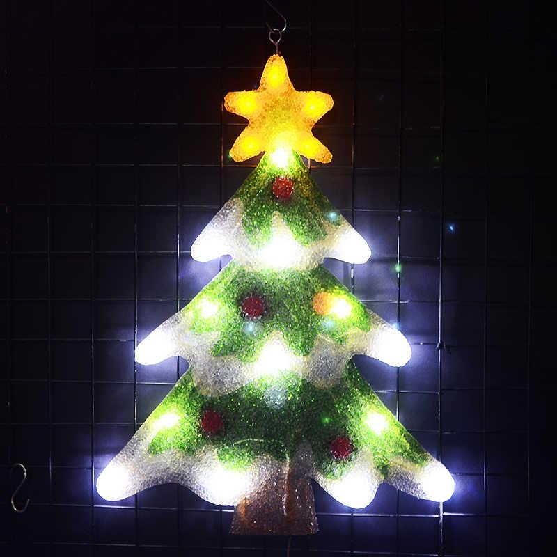 2d Christmas Tree Motif Lights 21 3 In Tall Led Decoration Xmas Tree Light Home Decoration Party Light Navidad 2018