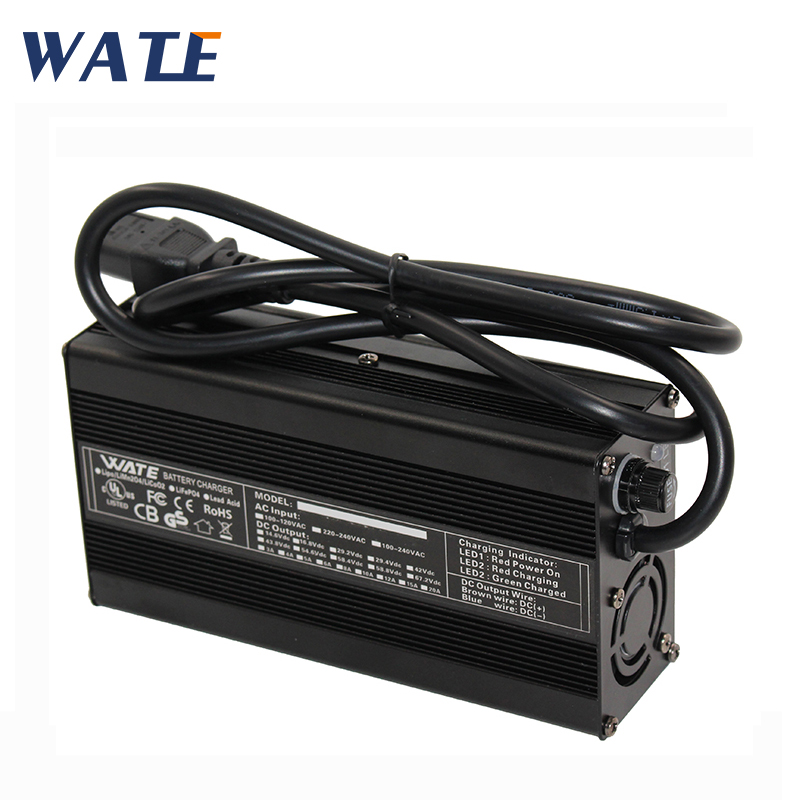 71.4V 2A Charger 62.9V Li-ion Battery pack electric bike Smart Charger Used for 17S 62.9V aluminum case With fan