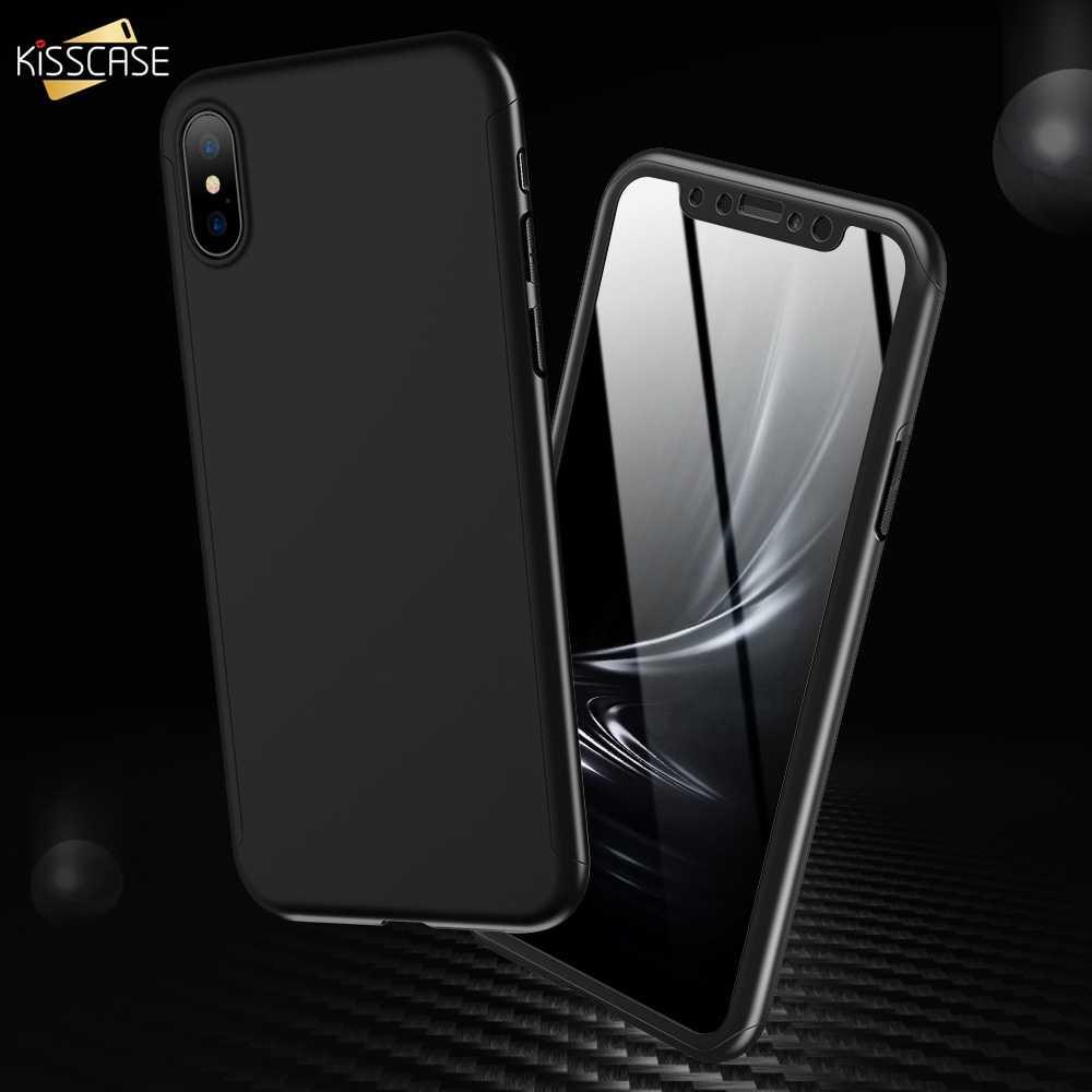 KISSCASE 360 Full Bảo Vệ Ốp Lưng Điện thoại Samsung Galaxy S10 S10E S9 S8 Plus S6 S7 Edge Note 5 7 8 9 PC Viền Chống Sốc Trường Hợp