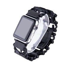 цена на For Apple Watch Series 4 Wrist Bracelet Luxury Metal Mechanical Chain Watch Band Strap For Apple Watch Series 1 2 3 38mm-42mm