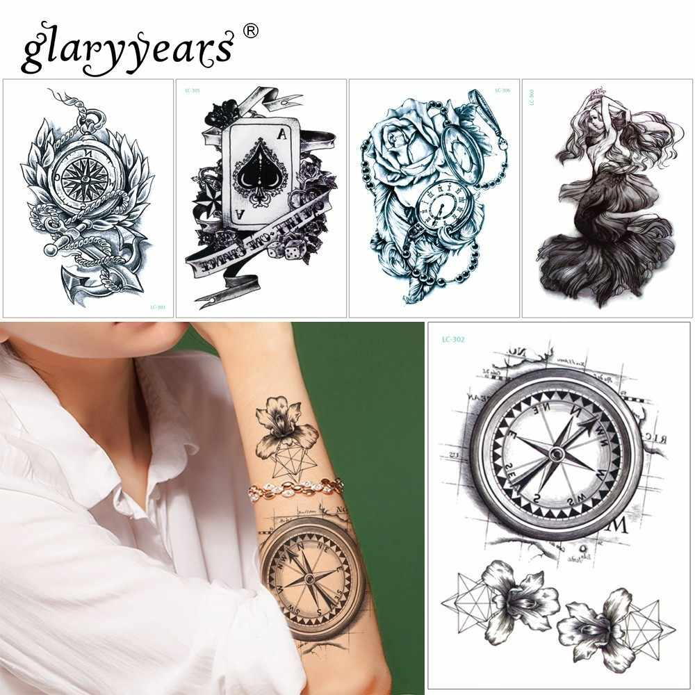 39f7400c1890e glaryyears 15*21cm Hot Temporary Tattoo Sticker Fake Tatoo Person Flash  Tatto Waterproof Small Body