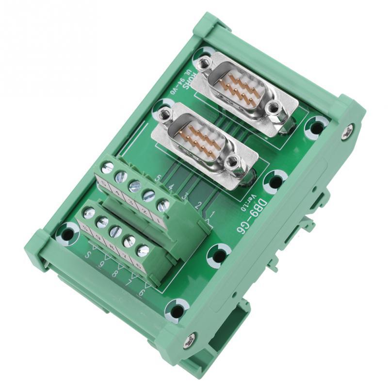DB9-G6 Double Male Head DIN Rail Mount Interface Module Terminal Block Board Connector