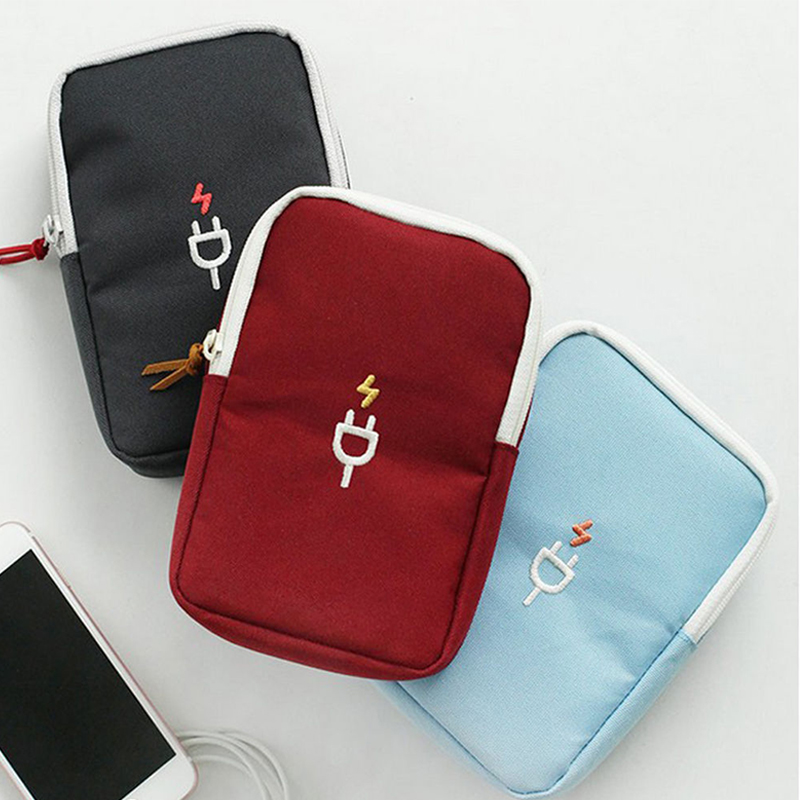Mini Charger Wires USB storage bag Earphone Data Cable USB Travel Portable Case Organizer Pouch Storage Bags