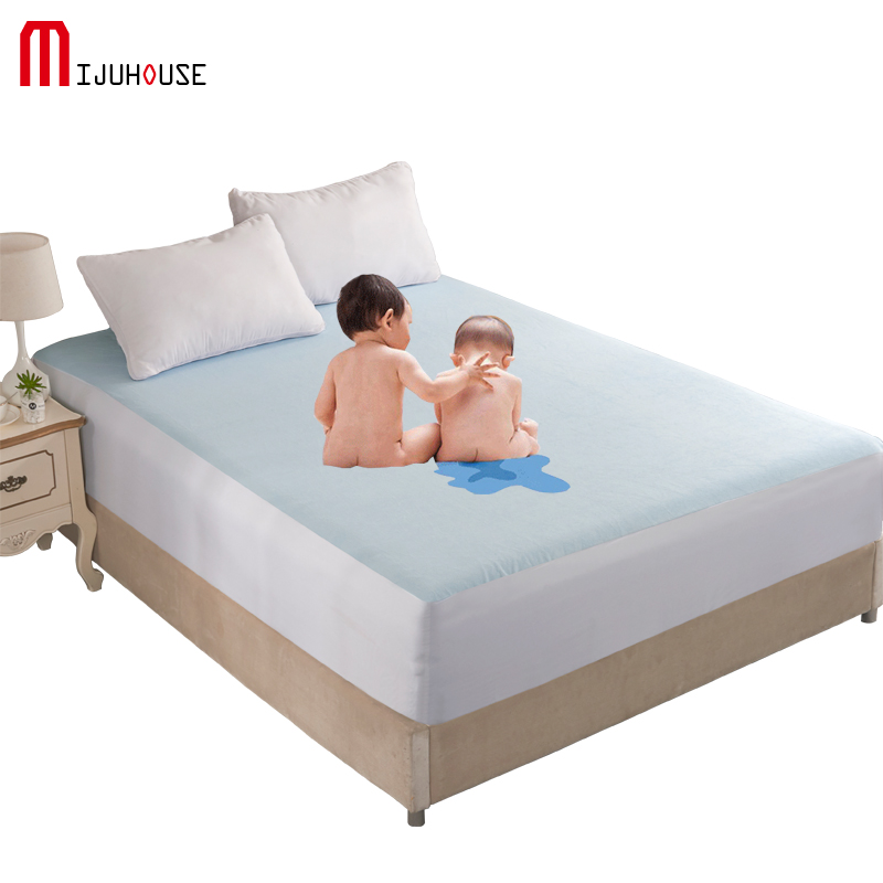 Mattress Pad Cover Protector 100/% Waterproof Bed Sheet Anti Mites Bed Topper