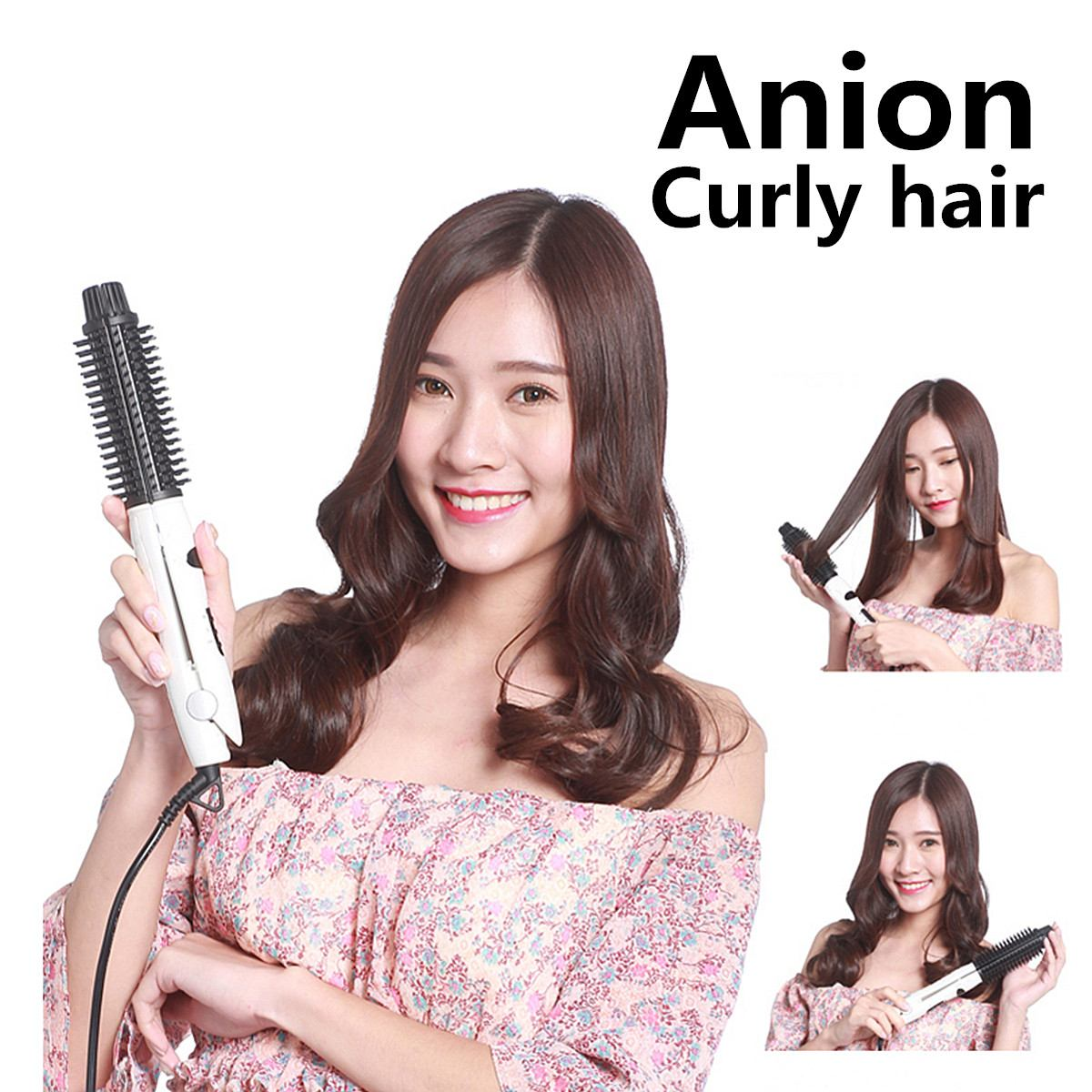 4in1 100-240V Hair Straightener Curler Wand Curling Iron Brush Roller Dual Ionic Ceramic Professional EU Plug Rapid Heating Safe4in1 100-240V Hair Straightener Curler Wand Curling Iron Brush Roller Dual Ionic Ceramic Professional EU Plug Rapid Heating Safe