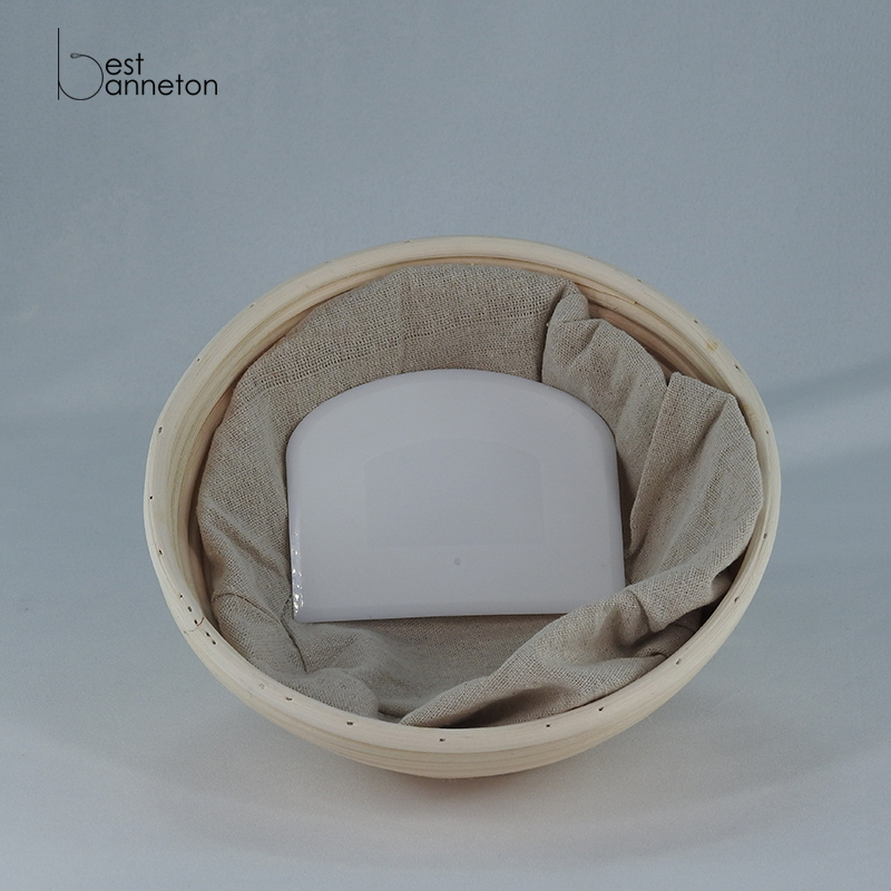 Best banneton Bread baker without bleach Handmade natural environmentally friend 9 inch Round banneton proofing basket Package
