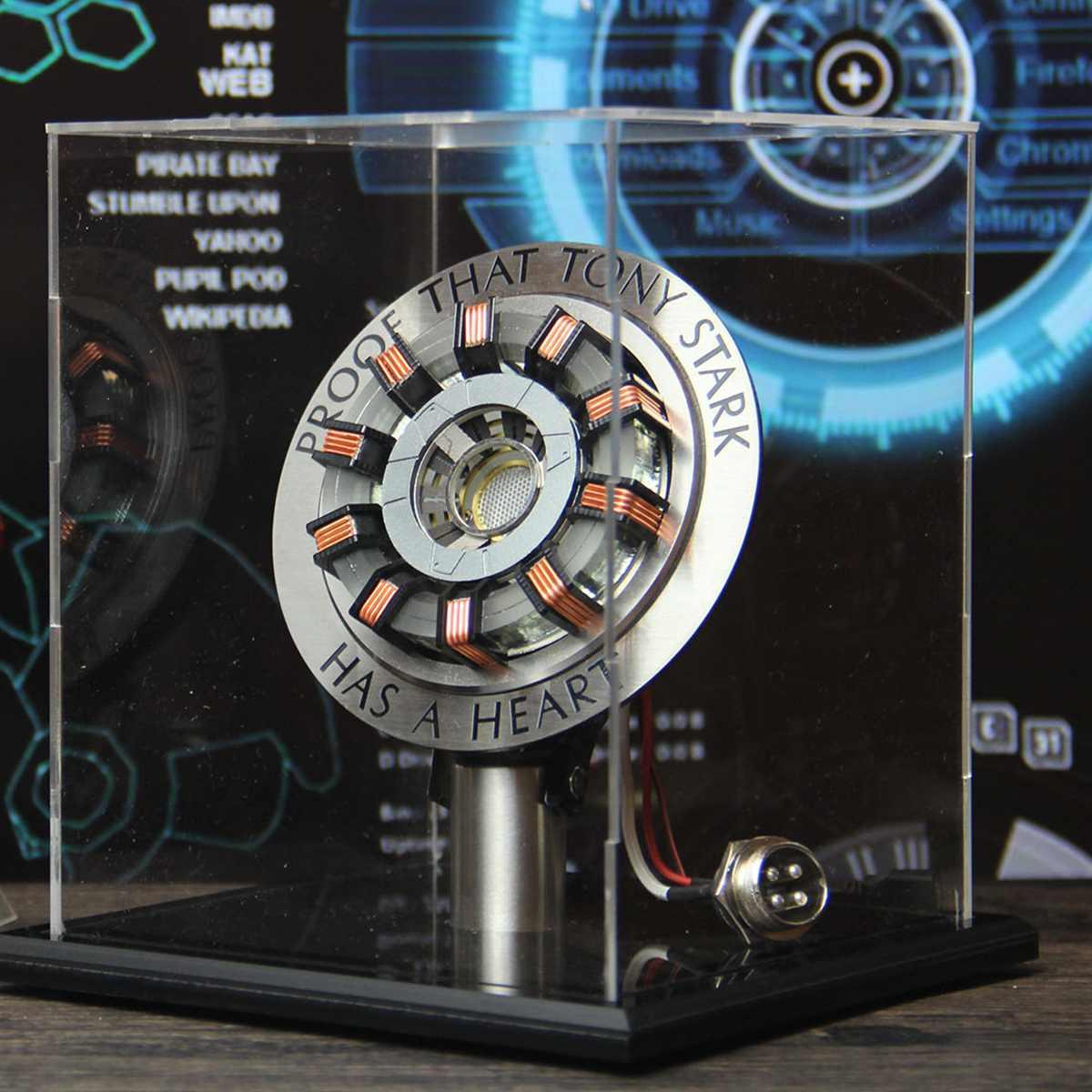 Livraison rapide gratuite 1:1 Arc réacteur bricolage Modle lumière LED marque deux télécommande lumière Arc MK2 bricolage pièces modèle assemblé jouets lampe de poitrine