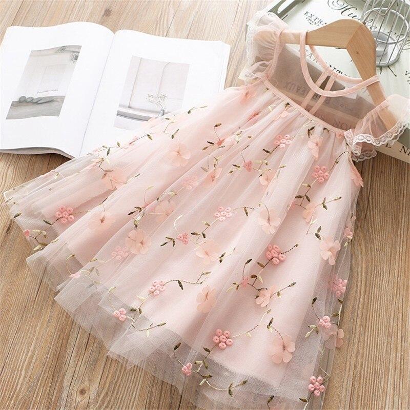 6ba165be930171c Летнее кружевное платье для девочек детское платье с вышивкой и оборками на  свадьбу, Детские платья