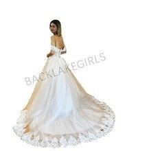 Lace Long Wedding Dress 2019 Sweetheart Chapel Train A Line