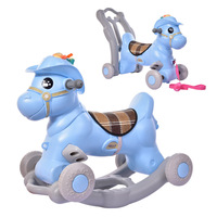 3 In1 Multi Function Kids Horse Toys Music Light Early Learning Baby Walker Stroller 1 5 Years Rocking Horse Ride on Animal Toys