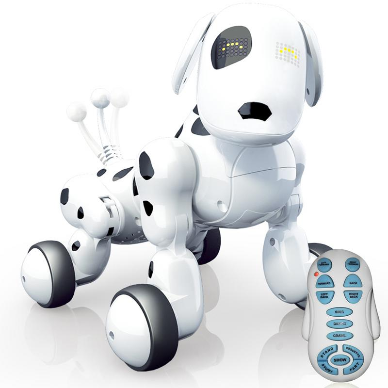 Wireless Remote Control Intelligent Robot Dog Electronic Children Early Education Puzzle Electric Toy Dog Toys For