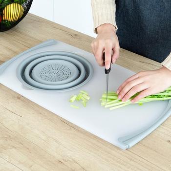 Tavola Di Drenaggio Della Cucina | Innovativo PP + TRP Tagliere Staccabile Pieghevole Cesto Di Scarico Multi-Funzione 2 In 1 Lavello Da Cucina Di Bordo Di Taglio Strumenti