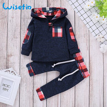 cc9ab083c Wisefin recién nacido bebé niño conjunto de ropa de invierno otoño azul  marino ropa infantil para niño recién nacido de manga la.