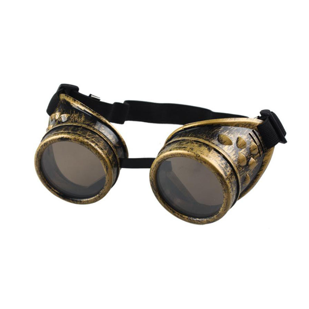 Heavy Metal Steampunk Gothic Style Goggles Welder Glasses Welding Labor Protective Goggles(China)