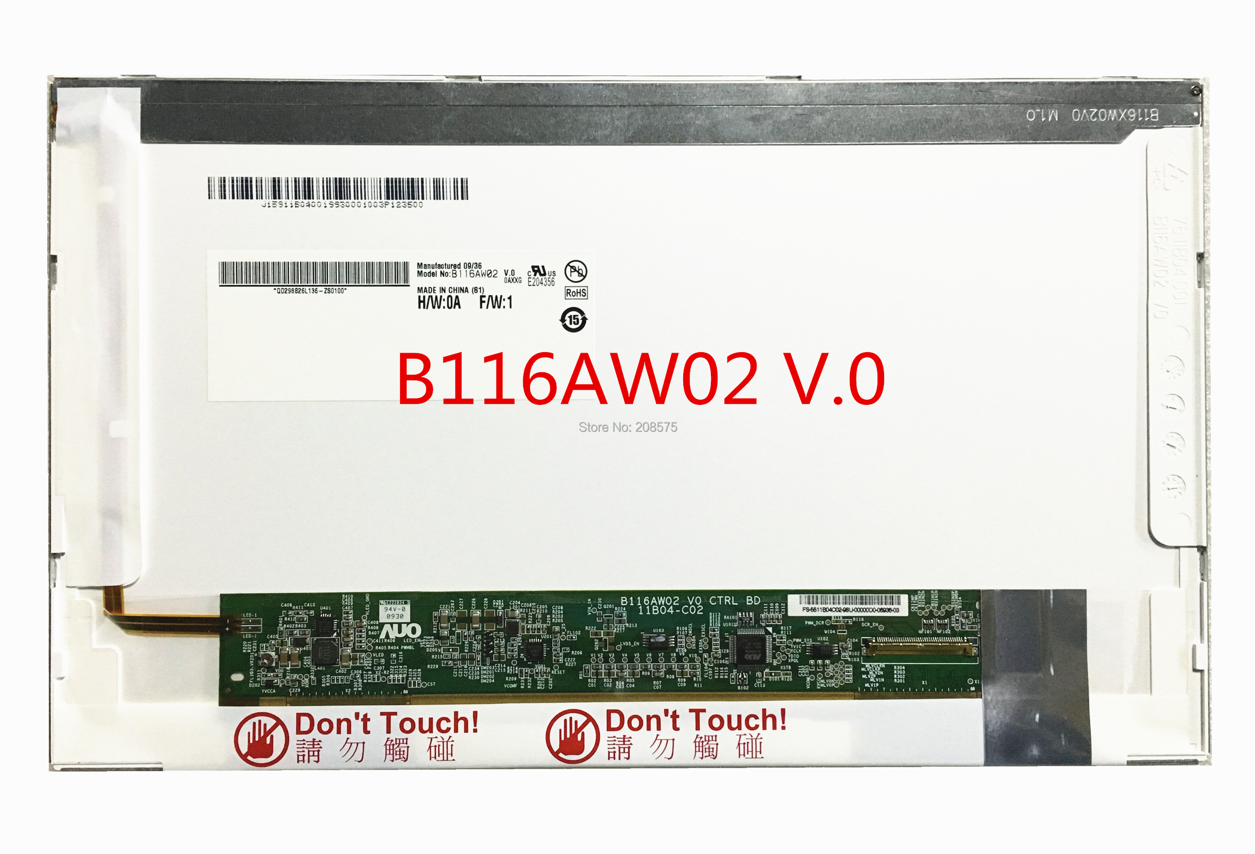 Free Shipping B116AW02 V 0 N116L6 L02 LP116WSA TLA1 11 6 inch laptop Lcd Screen 1024