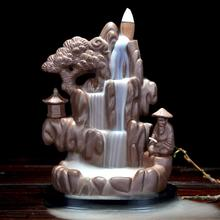 Mountain Incense Burner Smoke Waterfall Backflow Holder Ceramic Censer River Handicraft