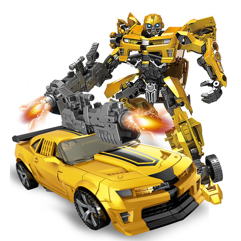 TOTOTOY YUEXING Transformation Anime Movie Series Figure Model Deformable Car Robot Big BEE Large Size ABS Plastic Toy For Boy image