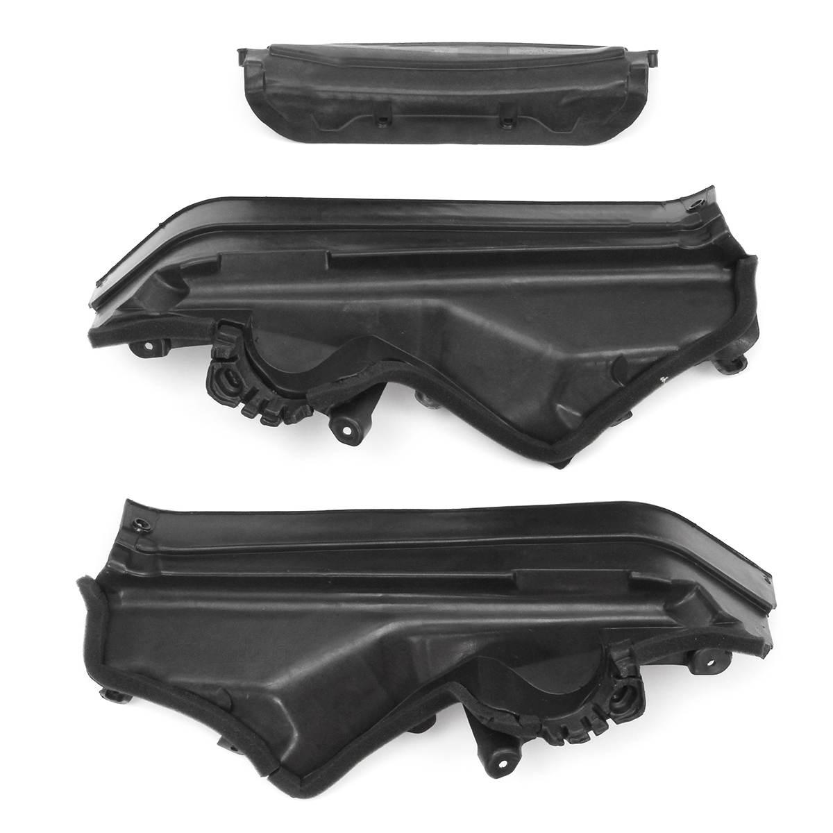 Yüksek kalite 3 adet araba motoru üst bölme bölme paneli seti BMW X5 X6 E70 E71 E72 51717169419 51717169420 51717169421