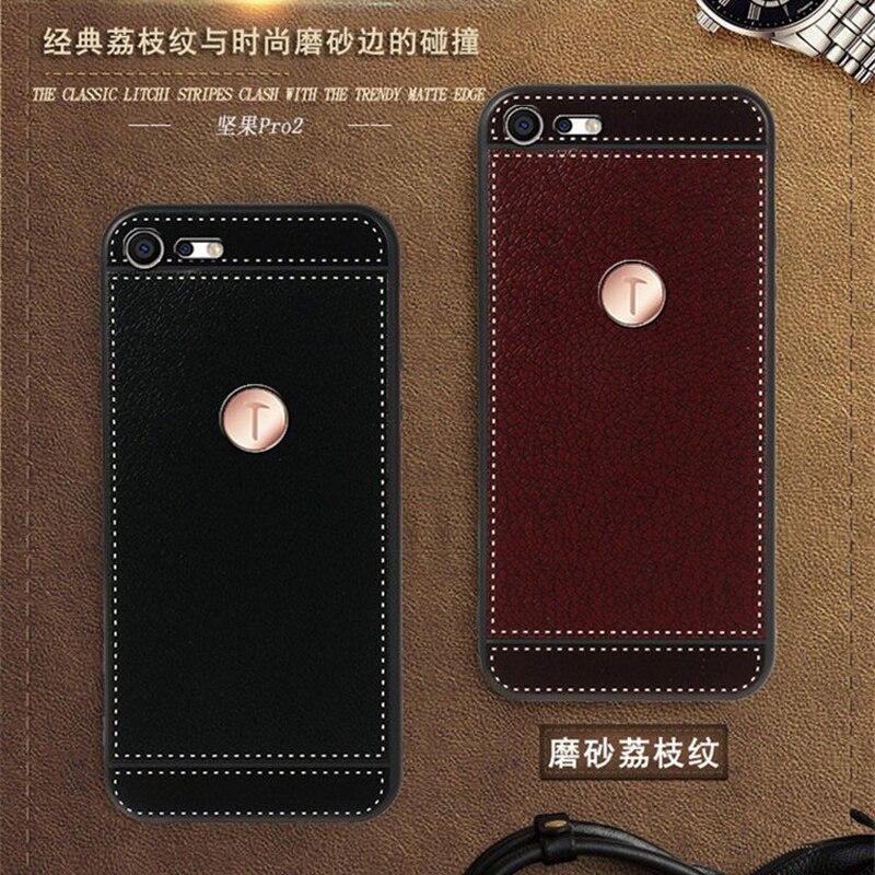 Чехол iSecret для Smartisan Nut Pro 2, кожаный чехол 5,99 дюйма, мягкий черный силиконовый чехол для Smartisan U3 Pro Capa Nut Pro 2, чехол